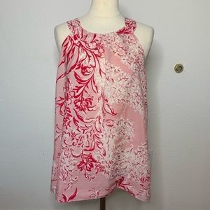 Ann Taylor LOFT Pink Floral Blouse